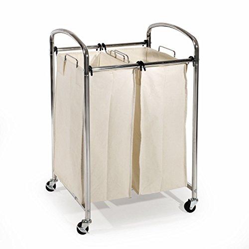Simple Houseware Heavy Duty 3 Bag Laundry Sorter Rolling